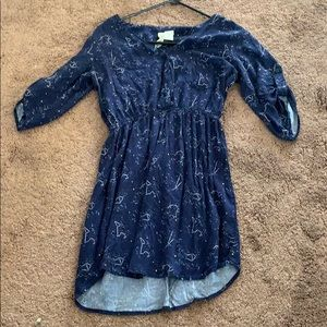 Navy Blue Stars Dress